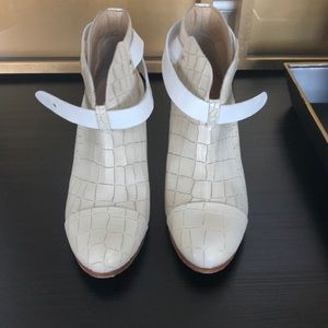 Rag and Bone Off White Booties